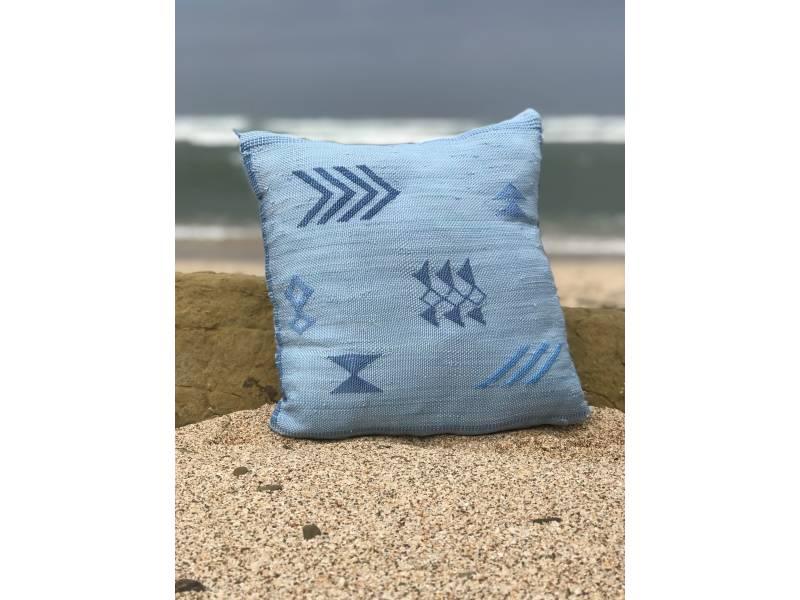 Light Blue, Blue Bamboo Yarn Bamboo Pillow