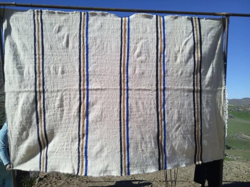 Blue, Brown Btaniya Rug