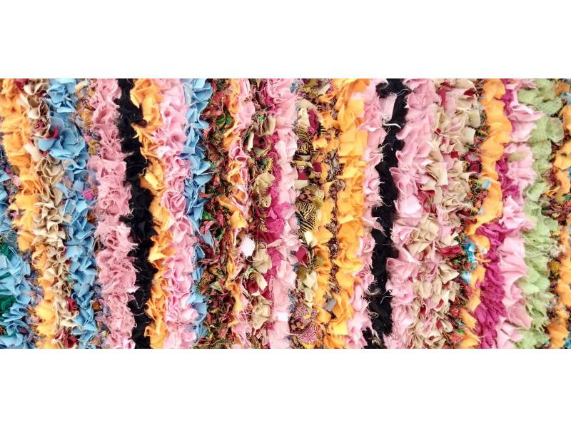 Colored Cotton and Rag Fabric 10643