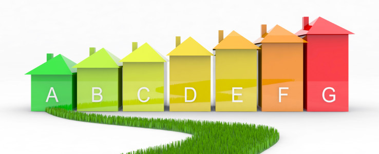 Graphic showing houses with letters on