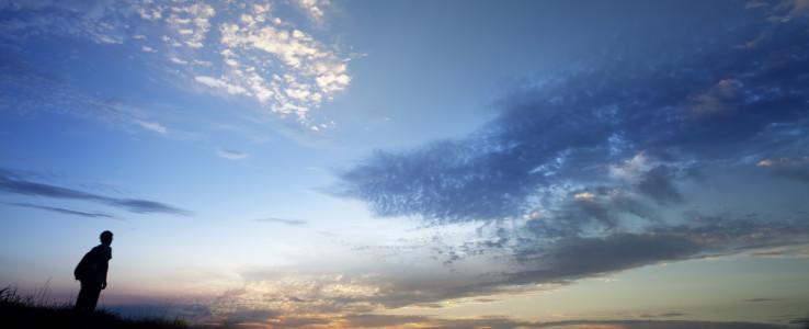 Man under big sky