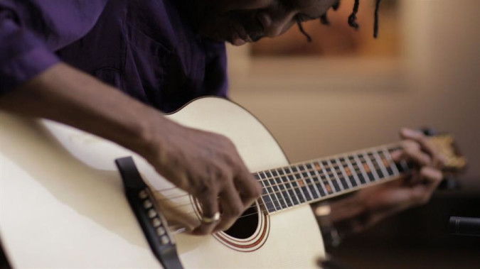 Still from Group of Seven Guitars