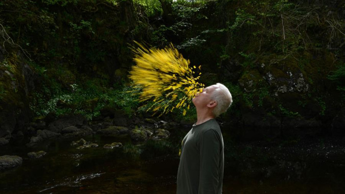 Still from Leaning into the Wind: Andy Goldsworthy