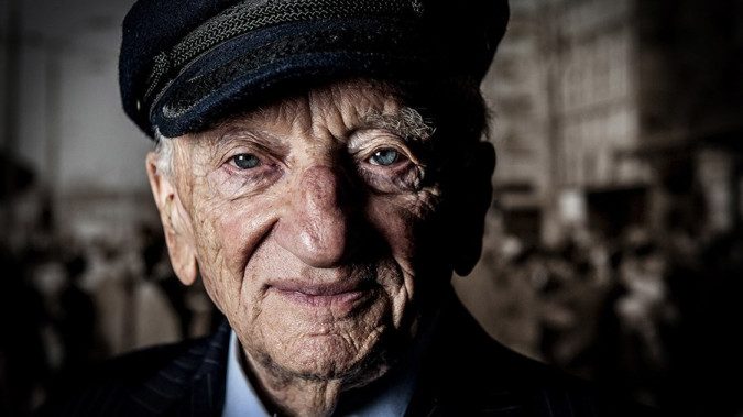 Still from Prosecuting Evil: The Extraordinary World of Ben Ferencz