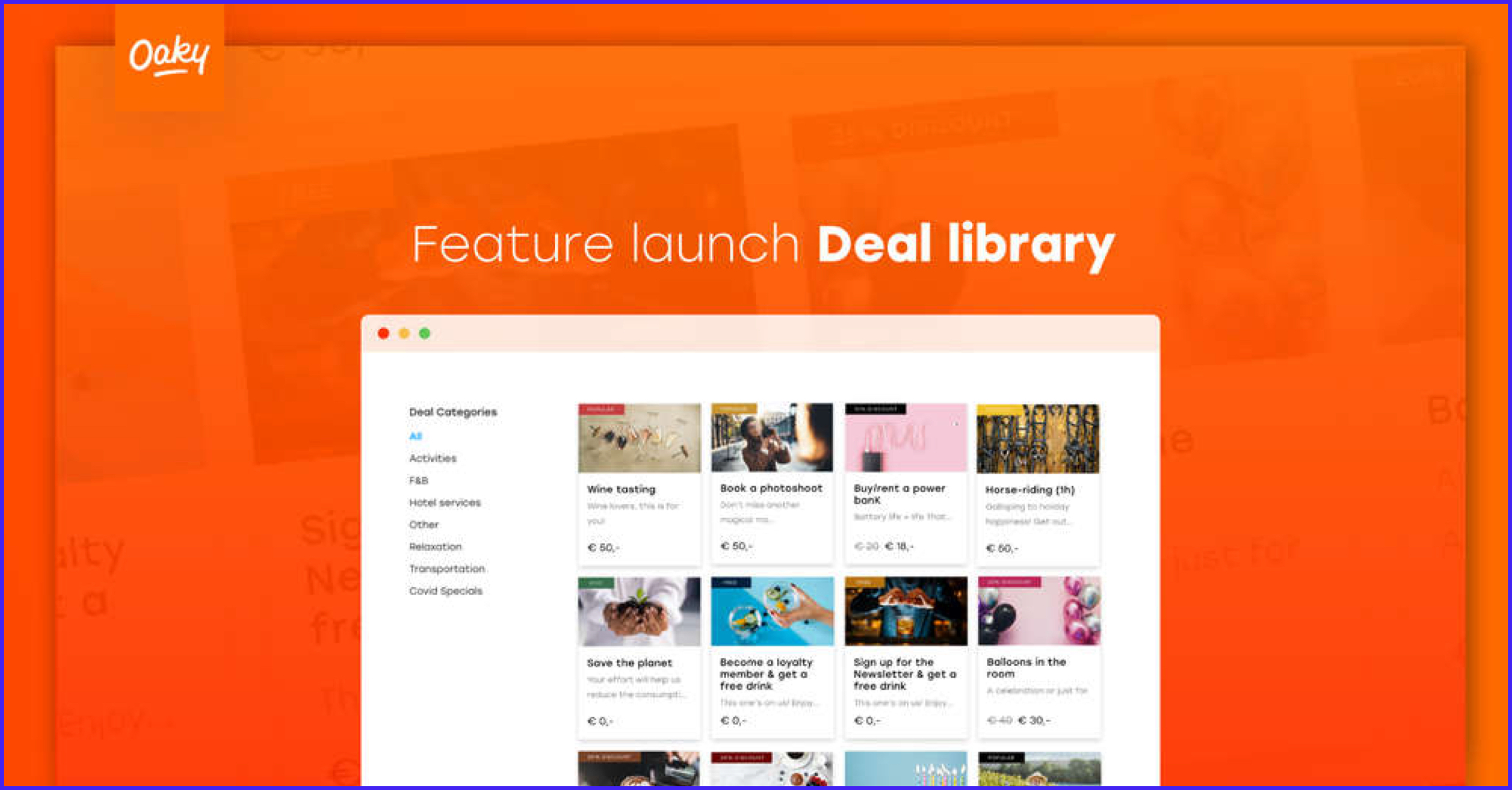 Upselling tool Oaky launches Deal Library feature for hoteliers