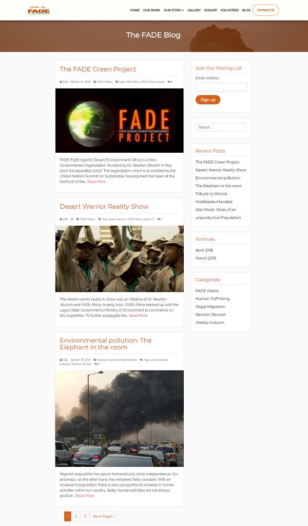 FADE Africa Blog