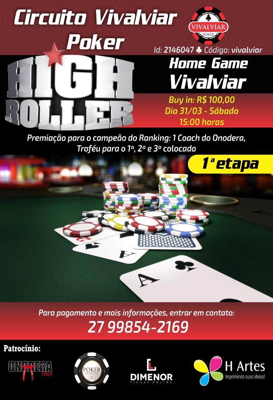 Circuito Vivalviar Poker 1a Etapa (HIGH ROLLER)
