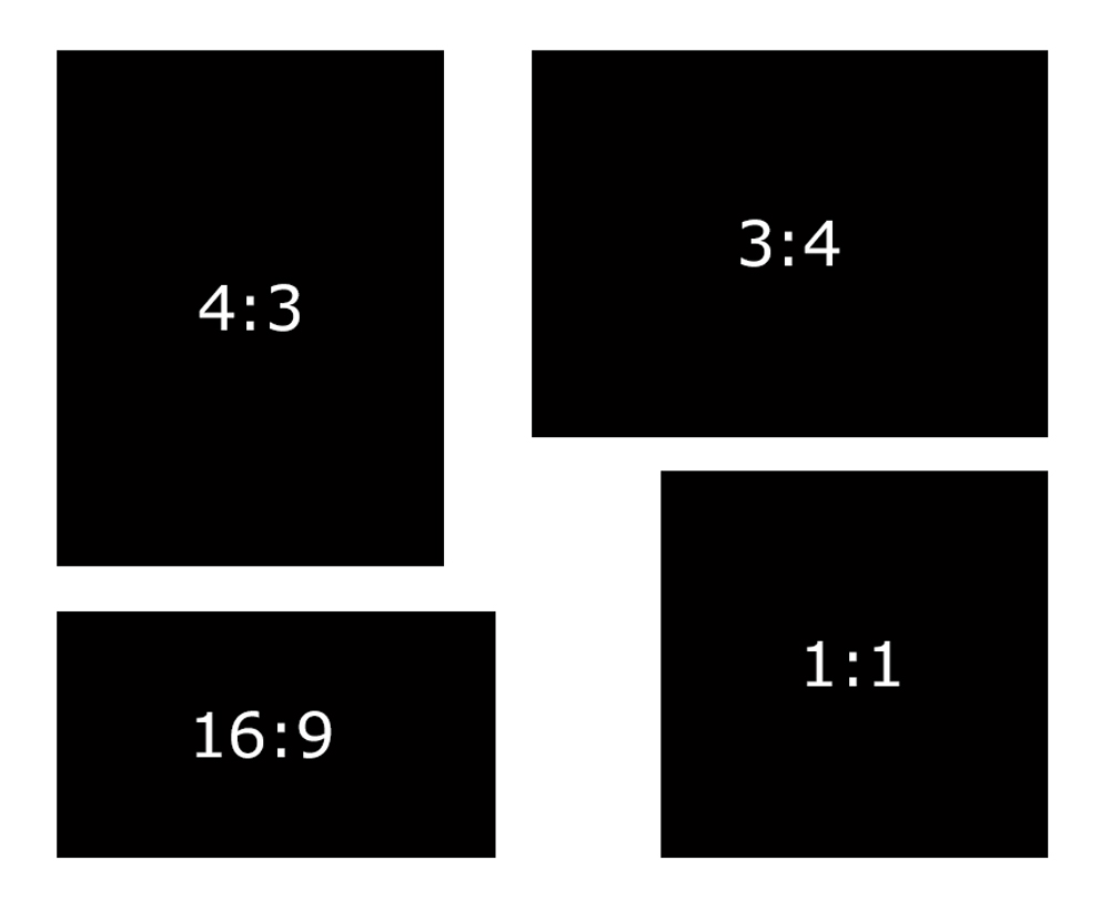 possible image aspect ratios