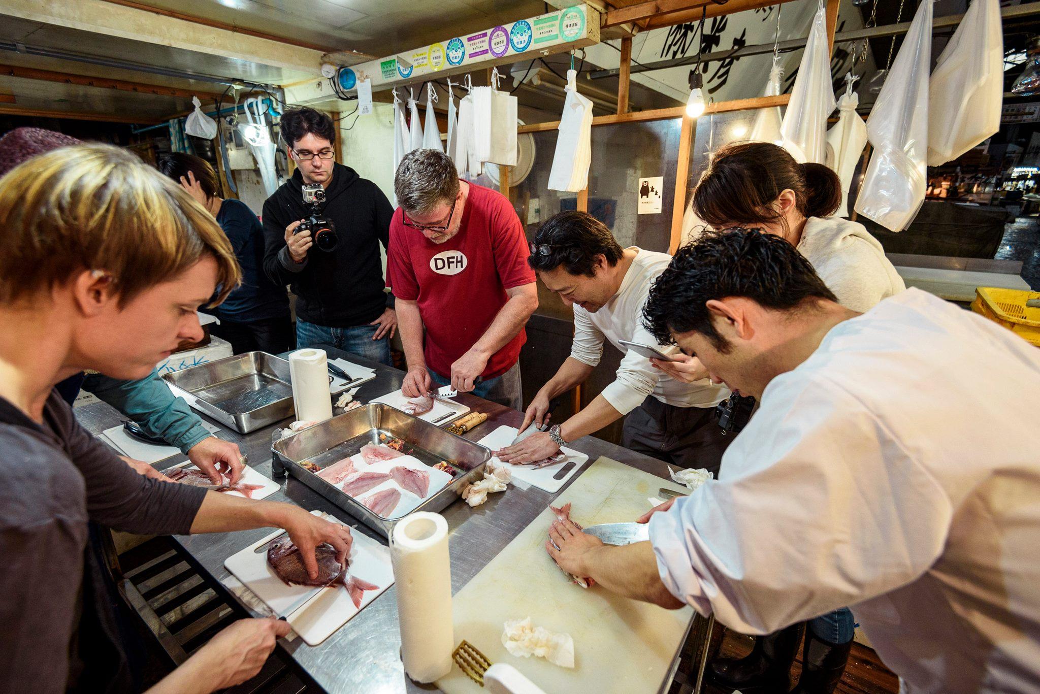 Explore tsukiji fish market and make sushi and sashimi for Hagen s fish market