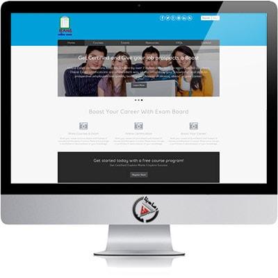 طراحی سایت ارائه ی تست های زبان