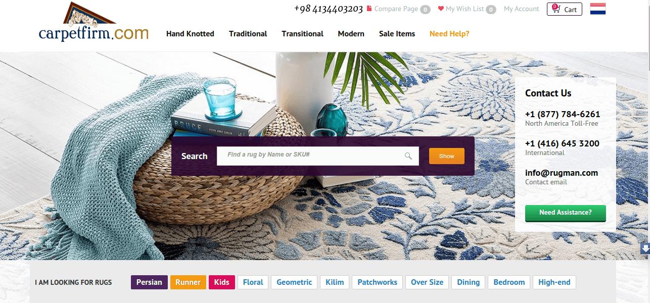 طراحی سایت کارپت فیرم-فروش فرش