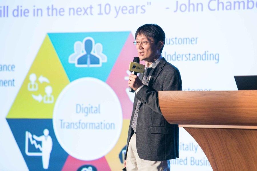 產學研鏈結中心執行長廖如圭勉勵「立足台灣、放眼世界」的創業者們應著重培養核心競爭力,以利和國外市場接軌