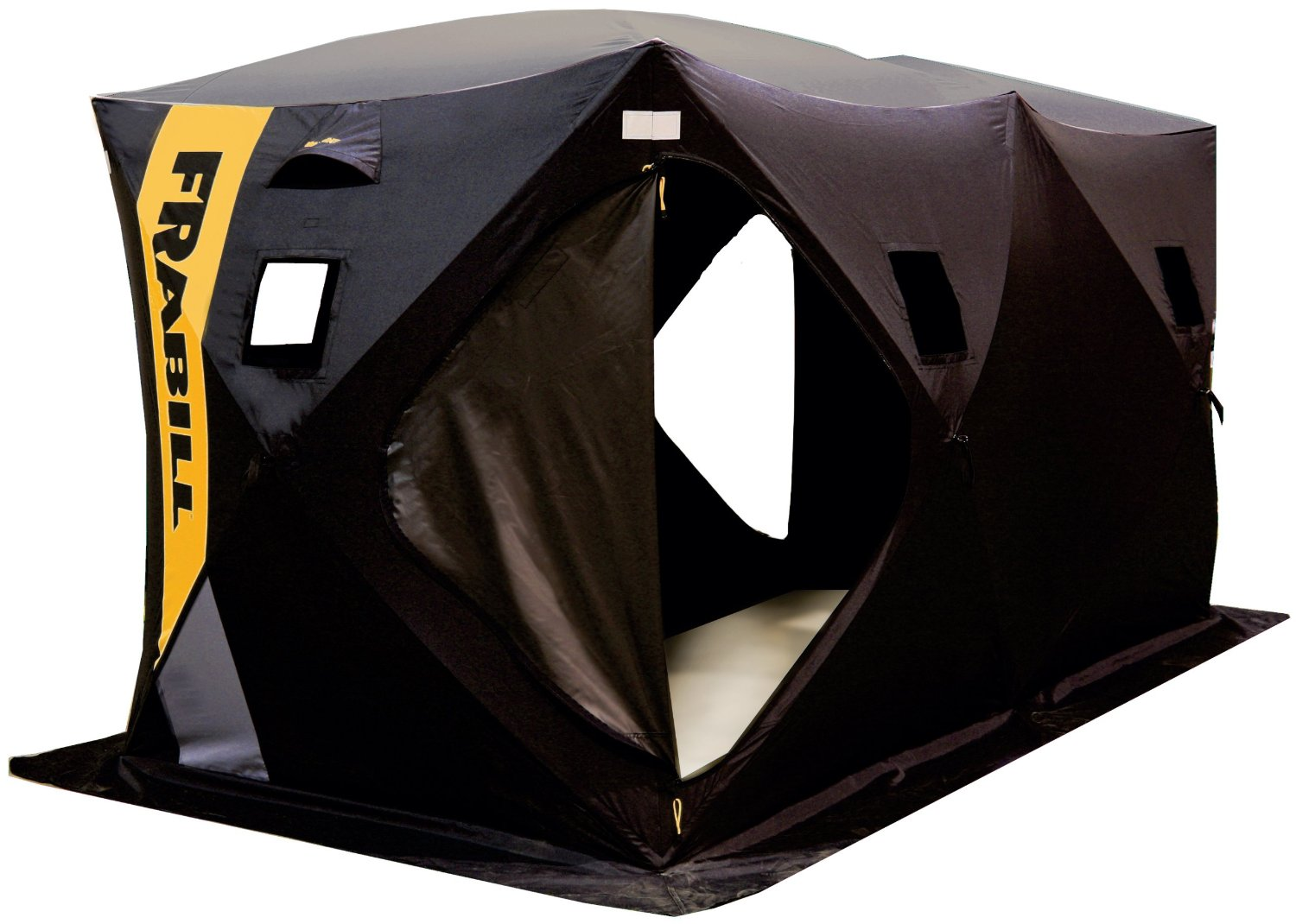 Frabill ice shelter with video ice fishing for Ice fishing shelter