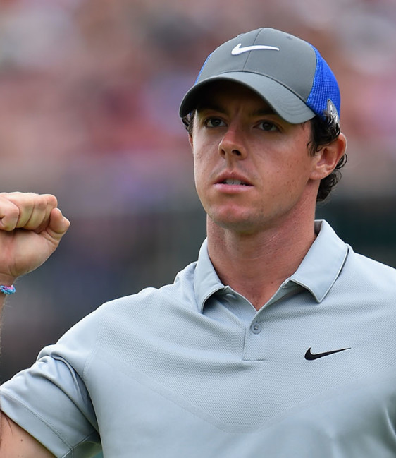 Twin eagles power Rory to big 54-hole Open lead