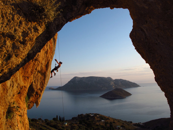 climbing in Kalymnos Island, Greece