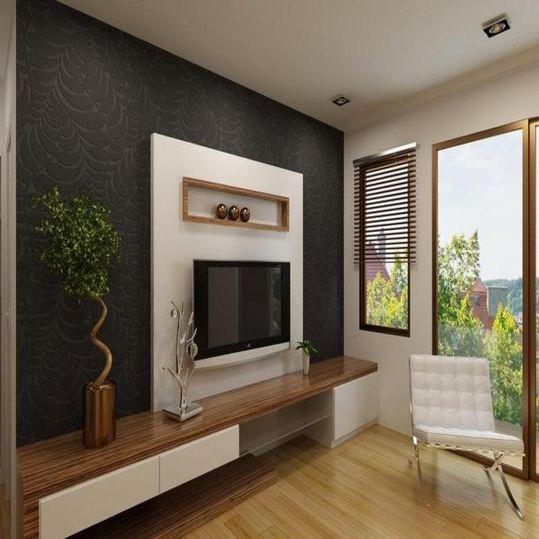 Backdrop Televisi yang Memberi Dimensi pada Ruangan Minimalis | SARAÈ Blog