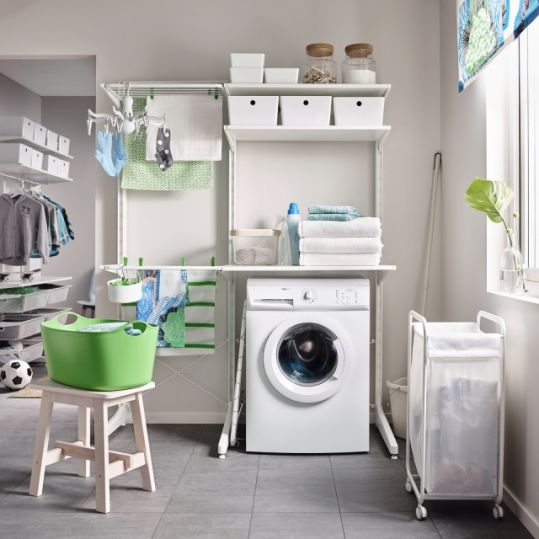Tips: Use Small Space Room as Indoor Laundry Room | SARAÈ Blog