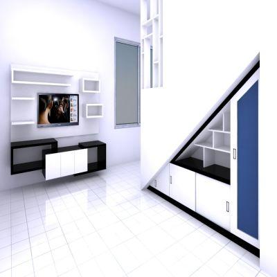 Clean White Under Stair Buffet | SARAÈ
