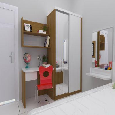 Brown Mirror Desk & Wardrobe | SARAÈ