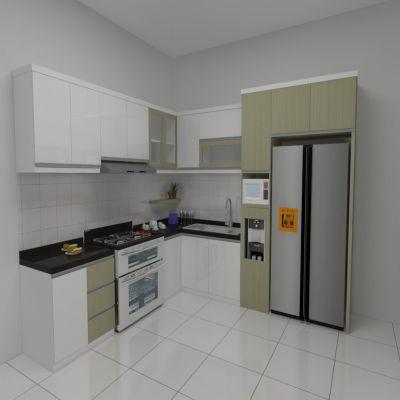 White Wide Kitchen Set | SARAÈ