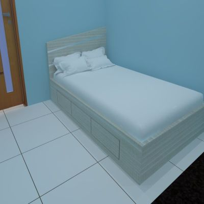 Bed with Drawer | Sarae