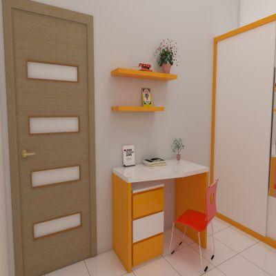 Orange Wardrobe and Desk Set   SARAÈ