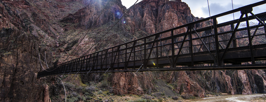 The Black Bridge in Grand Canyon