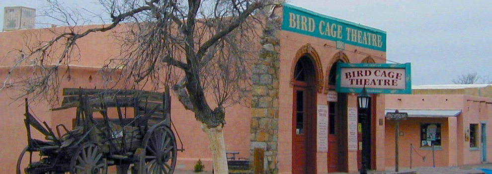 The Bird Cage Theatre in Tombstone, one of the West