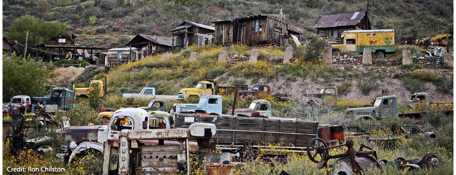 Gold King Mine and Ghost Town is a delight for photographers and gearheads.