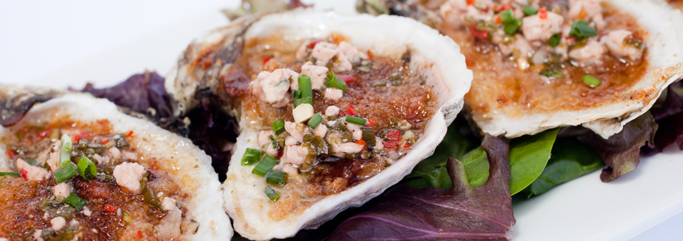 Baked Oysters Bleu from The Parish in Tucson, Arizona.