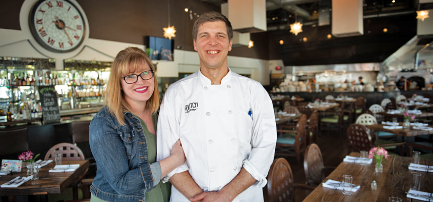 Nicole and Marcus van Winden in their restaurant, Dutch Eatery & Refuge