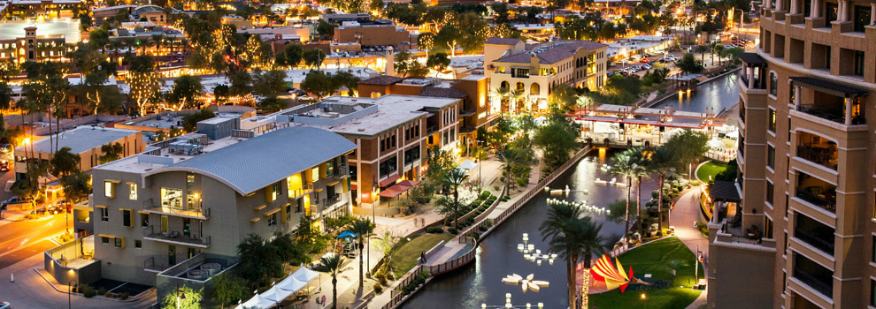 The Arizona Canal and Scottsdale
