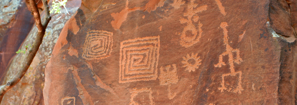 Petroglyphs at the V-Bar-B Heritage Site in Arizona