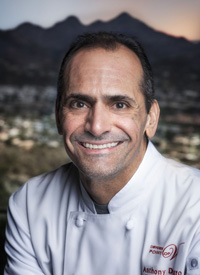 Headshot of Chef Anthony DeMuro, courtesy of A Different Pointe of View restaraunt in Phoenix