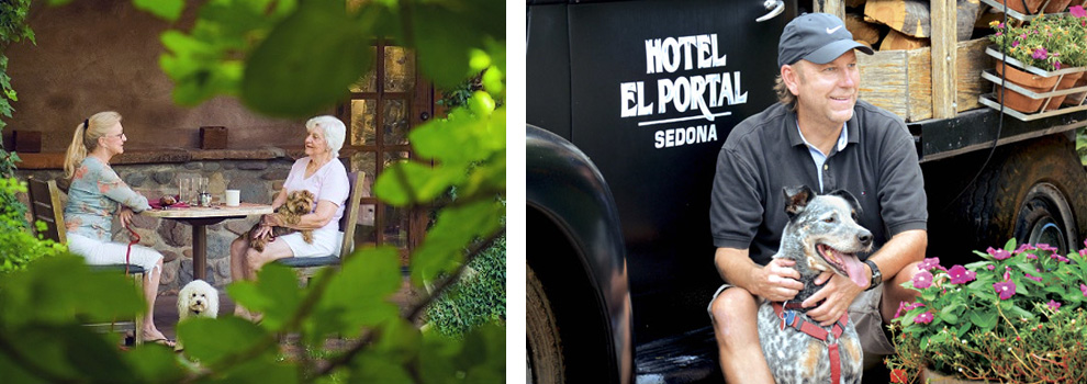 Guests at El Portal Sedona are welcome to bring their pets.