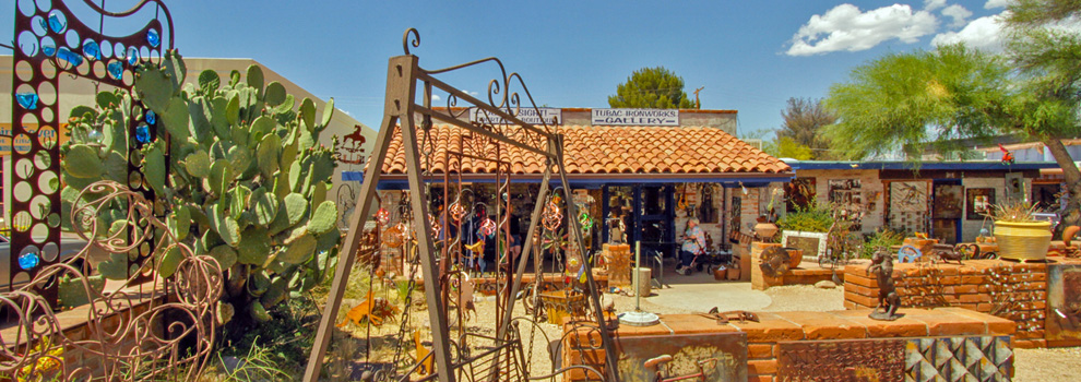 The front of Lee Blackwell Studio in Tubac, Arizona