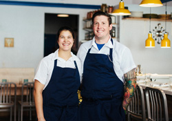 Dara and Joe Rodger at their restaurant, Shift, in Flagstaff, Arizona