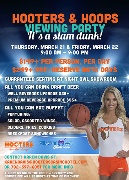 March Madness Hooters Casino Hotel Las Vegas Viewing Party