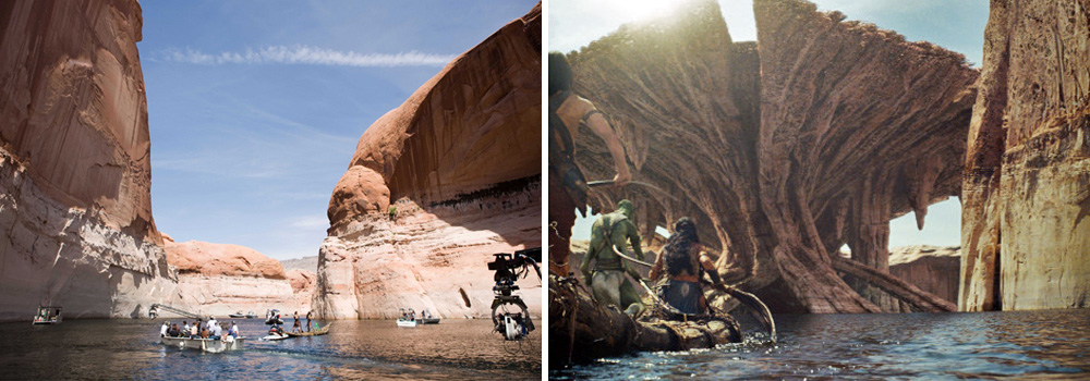 Filming John Carter in Lake Powell, and after with a little help from CGI