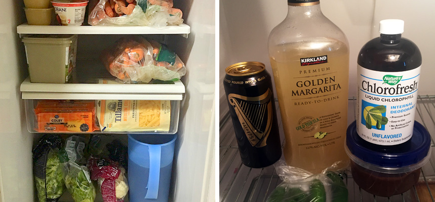 Chefs Anthony Demuro's and Dominique Stollers' fridge