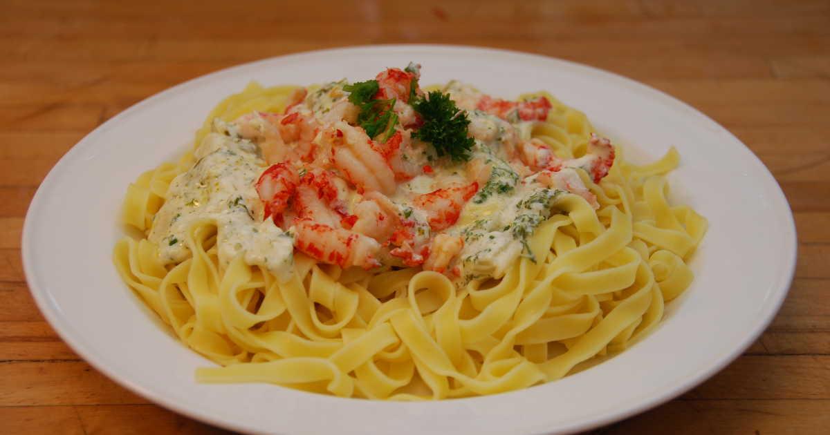recept kräftstjärtar pasta