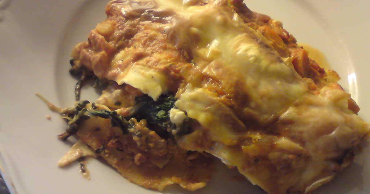 vegetarisk lasagne med fetaost