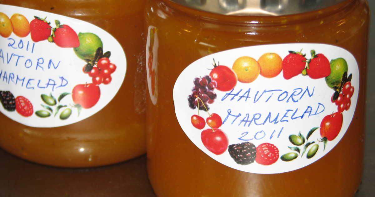 havtorn recept marmelad