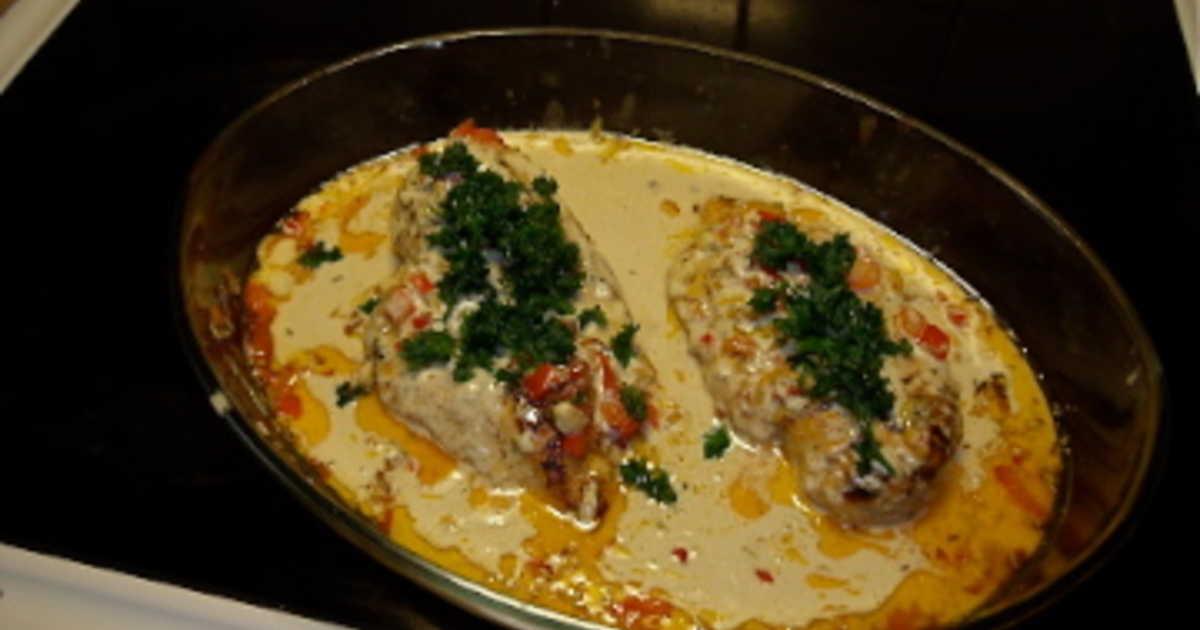 recept kycklingfile i ugn med sås