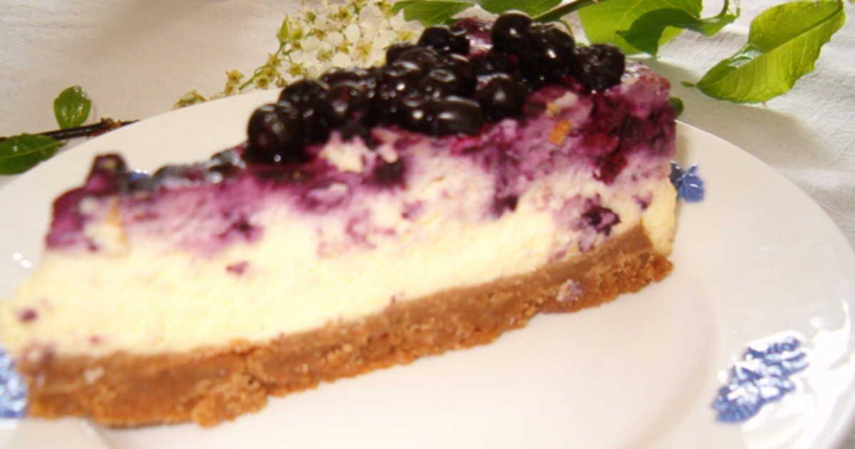 cheesecake blåbär recept