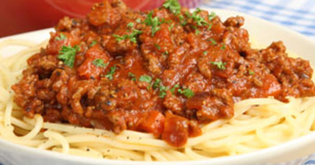 spagetti och köttfärssås recept