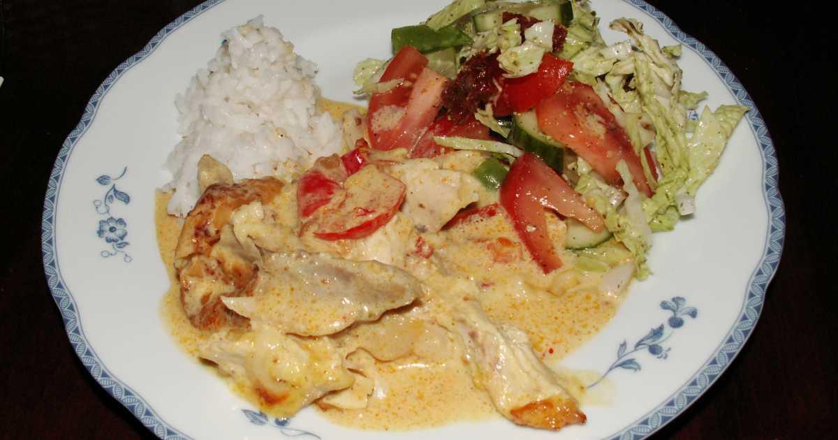 recept kyckling med mango chutney