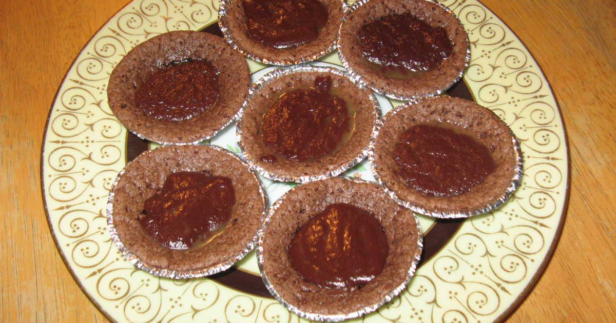 chokladmuffins med chokladfyllning