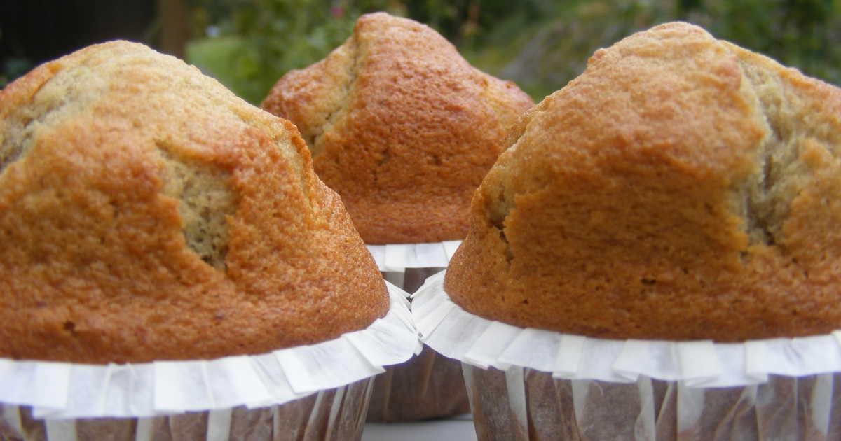 sockerfria muffins banan