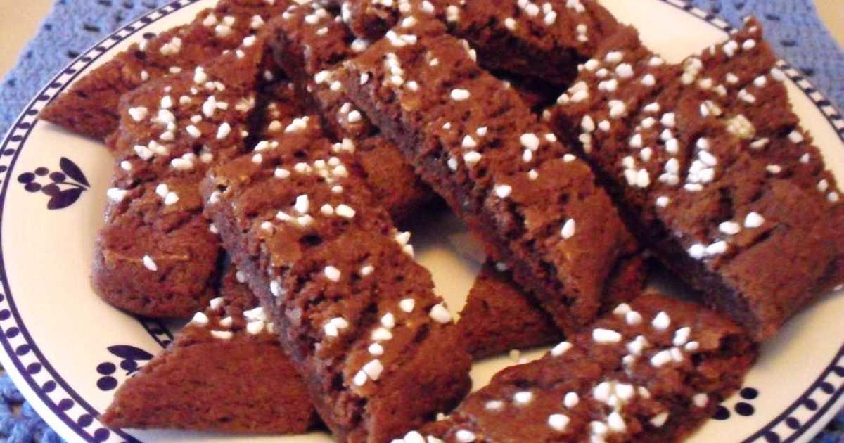 Småkakor choklad pärlsocker